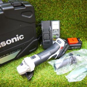 パナソニック 充電ディスクグラインダー EZ46A1LJ2G-H 未使用 100 14.4V/18V対応 5.0Ah フルセット グレー Panasonic ≡DT549|sunstep