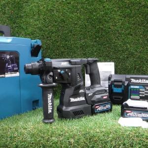 マキタ 充電式ハンマドリル  HR001GRDXB 未使用 28mm 40Vmax 2.5 セット品 はつり 無線連動機能付 Makita≡DT570 sunstep