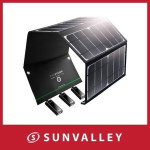 ■パッケージ内容 1 x RAVPower 24W 3ポート アウトドアソーラー充電器 (型番: R...