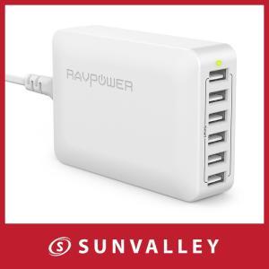 ■パッケージ内容 RAVPower 60W 6ポート USB充電器本体 AC電源コード 取扱説明書(...