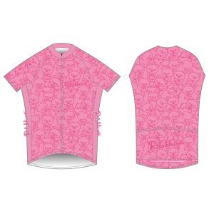 【限定SALE】【上下セット】リラックマサイクルジャージ(リラックマがいっぱい)リラックマ柄(ピンク)|sunvolt-store|02