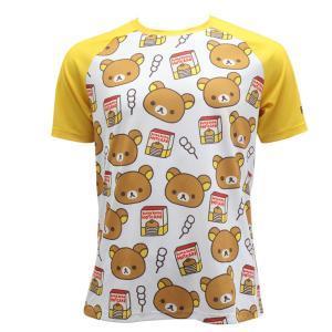 【予約・10月下旬ごろ入荷予定】リラックマ バックポケットTシャツ(ちらし柄)|sunvolt-store