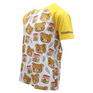 【予約・10月下旬ごろ入荷予定】リラックマ バックポケットTシャツ(ちらし柄)|sunvolt-store|03