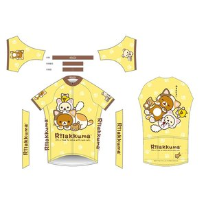 リラックマ サイクルジャージ(のんびりネコ・イエロー)|sunvolt-store