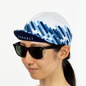 サイクルキャップ[ブルー/ネイビー/ホワイト]フリーサイズ|sunvolt-store