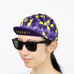 サイクルキャップ[パープル/イエロー]フリーサイズ|sunvolt-store