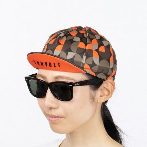 サイクルキャップ[ブラウン/オレンジ]フリーサイズ|sunvolt-store