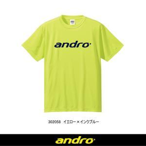 アンドロ(andro) ナパTシャツ3 卓球ウエア/ユニフォーム 男女兼用 [302053/302054/302055/302083/302082/302058] sunward
