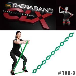 THERABAND CLX セラバンドCLX エクササイズ ループ バンド #TCB-3 ヘビー グリーン|sunward