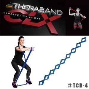 THERABAND CLX セラバンドCLX エクササイズ ループ バンド #TCB-4 エクストラヘビー ブルー|sunward