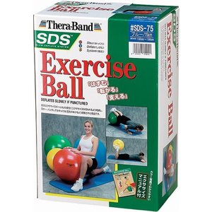 SDSエクササイズボール SDS-75 バランスボールブルー75cm|sunward