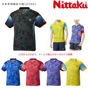 卓球ユニフォーム ニッタク Nittaku スカイミルキーシャツ メンズ レディース NW-2189