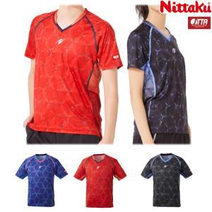 卓球ユニフォーム ニッタク Nittaku ムーブラッフルシャツ メンズ レディース NW-2195