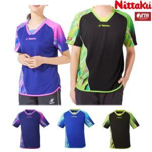 卓球ユニフォーム ニッタク Nittaku デルトシャツ メンズ レディース NW-2196