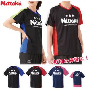 卓球Tシャツ ニッタク Nittaku EV-Tシャツ 卓球ウェア 男女兼用 メンズ レディース NX-2094|sunward