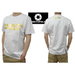 セール SOUTH POLE サウスポール Tシャツ メンズ 半袖 オフィシャル箔ロゴプリント 11512004 sunwear