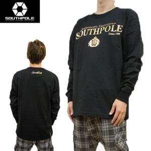 セール SOUTH POLE サウスポール Tシャツ メンズ 長袖 ゴールド箔ロゴプリント ヘビーウェイト 11531054 sunwear