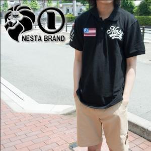 ネスタブランド NESTA BRAND ×HAN-KUN メンズ 吸水速乾 ポロシャツ 72NB1201|sunwear
