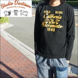 ステュディオ ダルチザン STUDIO D'ARTISAN Tシャツ メンズ プリント 長袖Tシャツ ロンT 9874A sunwear