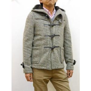 セール Gloverall(グローバーオール) メンズ ニット素材 やや細め ダッフルコート(ショートコート) #2147 PW|sunwear