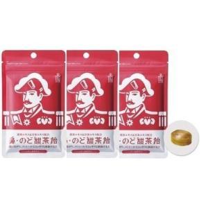 森下仁丹 鼻・のど甜茶飴 38g(約17粒) のど飴 ノンシュガー DM便 3袋セット