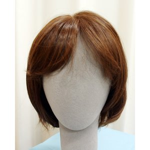 ボブスタイル ブラウン 軽いウイッグ 自然仕上げ ハンドメイド  ご来店で調整カット付き 医療用|super-hair-seo