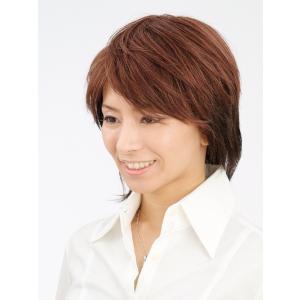 ピーチショート 軽いウイッグ 自然仕上げ ハンドメイド  ご来店で調整カット付き 医療用 |super-hair-seo