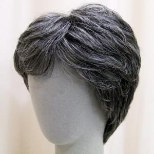 ネット限定 白髪30% カジュアルスタンダード 軽いウイッグ 自然仕上げ ハンドメイド ご来店で調整カット付き 医療用|super-hair-seo