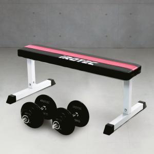 ダンベル 20kg 2個セット IROTEC(アイロテック)トライアルセット40/ダンベル40KG フラットベンチ 筋トレ トレーニング器具 super-sports