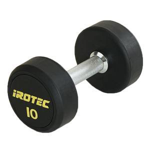 IROTEC(アイロテック)ジムダンベル 10KG/トレーニング器具 筋トレ器具 グッズ ベンチプレス バーベル ウエイトトレーニング