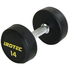 IROTEC(アイロテック)ジムダンベル 14KG/ダンベル トレーニング器具 筋トレ器具 筋トレグッズ ベンチプレス バーベル ウエイトトレーニング|super-sports