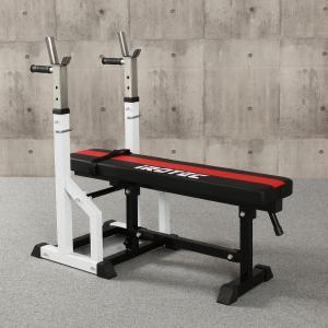 IROTEC(アイロテック)ハイパーフォールディングベンチ/トレーニング器具 筋トレ ベンチプレス バーベル 腹筋 ダンベル 自宅 折りたたみ