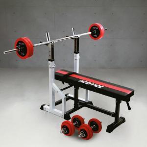 【次回入荷予定は7月末頃】ベンチプレスセット IROTEC(アイロテック)チャレンジセットR50/バーベル ダンベル トレーニング器具 筋トレ 筋力トレーニング|super-sports