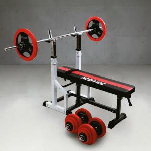 【次回入荷予定は7月末頃】ベンチプレスセット IROTEC(アイロテック)チャレンジセットR70/バーベル ダンベル トレーニング器具 筋トレ トレーニングマシン|super-sports