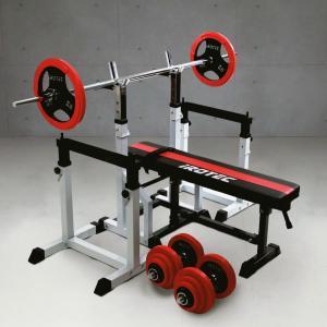 【次回入荷予定は7月末頃】ベンチプレスセット IROTEC(アイロテック)ビルドアップコンポR70/バーベル ダンベル トレーニング器具 筋トレ トレーニングマシン|super-sports