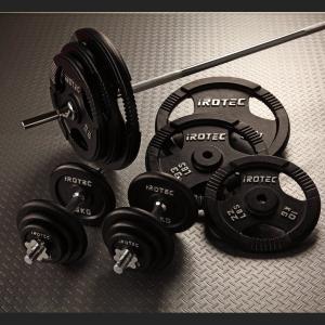 IROTEC(アイロテック)バーベル ダンベル セット 140kg//ダンベル・ベンチプレス・筋トレ・トレーニング器具・トレーニングマシン・鉄アレイ・ホームジム|super-sports
