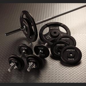 IROTEC(アイロテック)バーベル ダンベル セット 70kg//ダンベル・ベンチプレス・筋トレ・トレーニング器具・トレーニングマシン・鉄アレイ・ホームジム