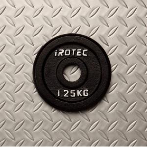 バーベル プレート IROTEC(アイロテック)アイアンプレート1.25KG /ダンベル ベンチプレス 筋トレ トレーニング器具 トレーニングマシン 鉄アレイ 健康器具|super-sports