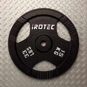 IROTEC(アイロテック)アイアン プレート 15KG / バーベルプレート/筋トレ ダンベル トレーニング器具