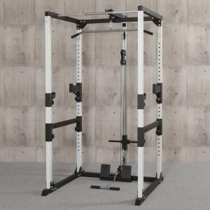 IROTEC(アイロテック)マルチパワーラック/ トレーニング器具 筋トレ 器具 筋力トレーニング ベンチプレス ダンベル バーベル 懸垂 スクワット