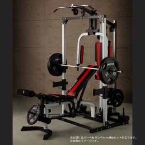 IROTEC(アイロテック)マルチビルダーステーション140 /ベンチプレス スクワット トレーニング器具 筋トレ パワーラック ホームジム バーベル|super-sports