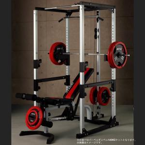 パワーラック IROTEC(アイロテック)マスキュラーセット140R/ベンチプレス マルチジム バーベル ダンベル トレーニング器具 ホームジム トレーニングマシン|super-sports
