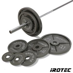 IROTEC(アイロテック)オリンピックアイアンバーベル144KGセット/バーベルセット ベンチプレス トレーニングマシン トレーニング器具 筋トレ|super-sports
