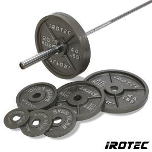 IROTEC(アイロテック)オリンピックアイアンバーベル184KGセット/バーベルセット ベンチプレス トレーニングマシン トレーニング器具 筋トレ|super-sports