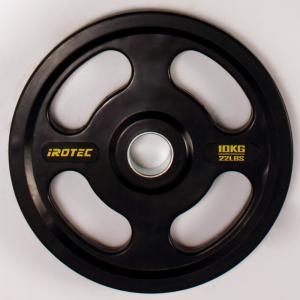 IROTEC(アイロテック)オールラバー仕様 オリンピック プレート 10KG /ダンベル・ベンチプレス・筋トレ・トレーニング器具・トレーニングマシン・鉄アレイ