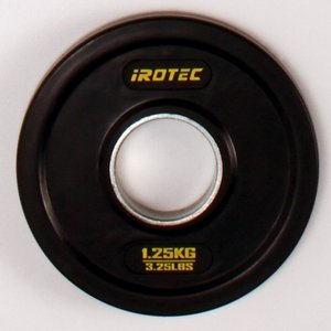 IROTEC(アイロテック)オールラバー仕様 オリンピック プレート 1.25KG 穴径50mm/ダンベル ベンチプレス 筋トレ トレーニング器具 鉄アレイ|super-sports
