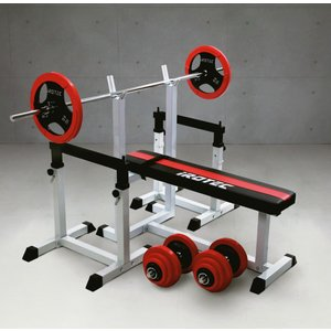 IROTECストレングスセットR70 /ベンチプレス 筋トレ器具 筋トレグッズ トレーニング器具 ダンベル バーベル プレスベンチ|super-sports