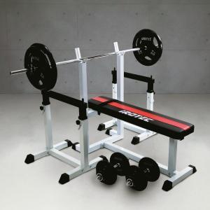 ベンチプレスセット IROTEC(アイロテック)ストレングスセット100 K/ベンチプレス トレーニング器具 トレーニングマシン 筋力トレーニング バーベル|super-sports
