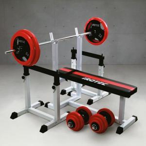ベンチプレスセット IROTEC(アイロテック)ストレングスセットR100 K/ベンチプレス トレーニング器具 トレーニングマシン トレーニング バーベル|super-sports