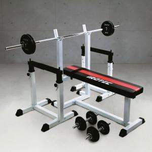 ベンチプレスセット IROTEC(アイロテック)ストレングスセット50 K/ベンチプレス バーベル 筋トレ トレーニング器具 トレーニングマシン セット ベンチ|super-sports